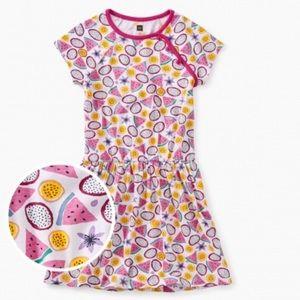 New Tea Collection Printed Raglan Dress Tropical